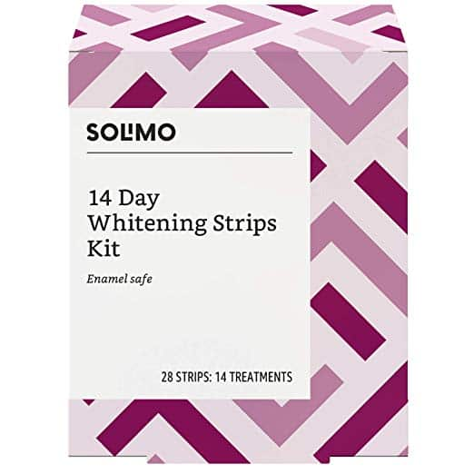 Solimo whitening strips kit