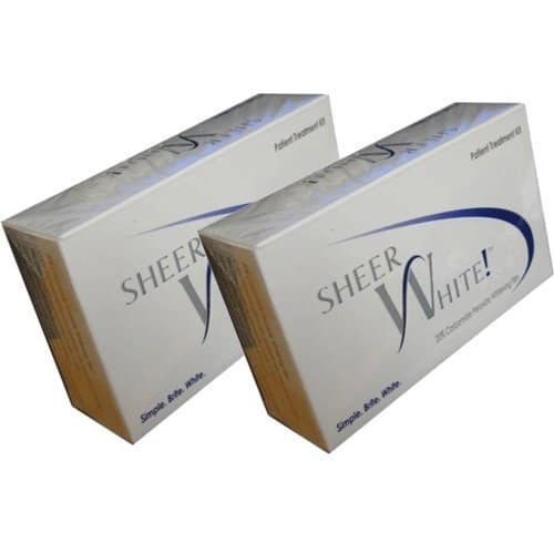 sheer white teeth whitening strips