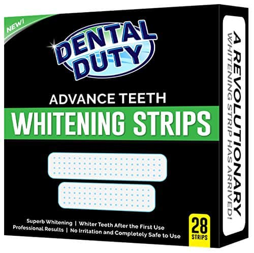dental duty advance teeth whitening strips