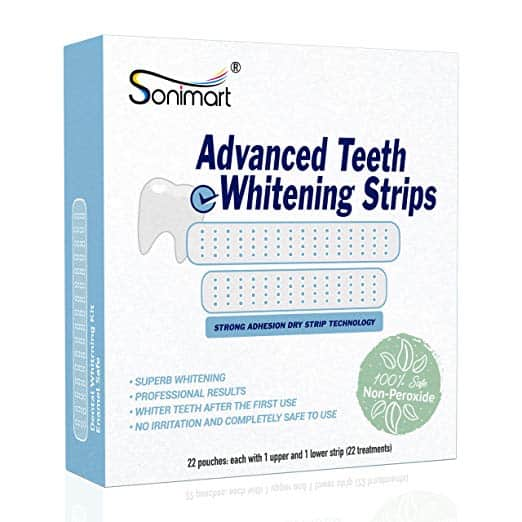 sonimart advanced teeth whitening strips