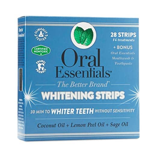 oral essentials whitening strips