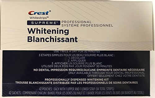crest supreme professional strength white strips