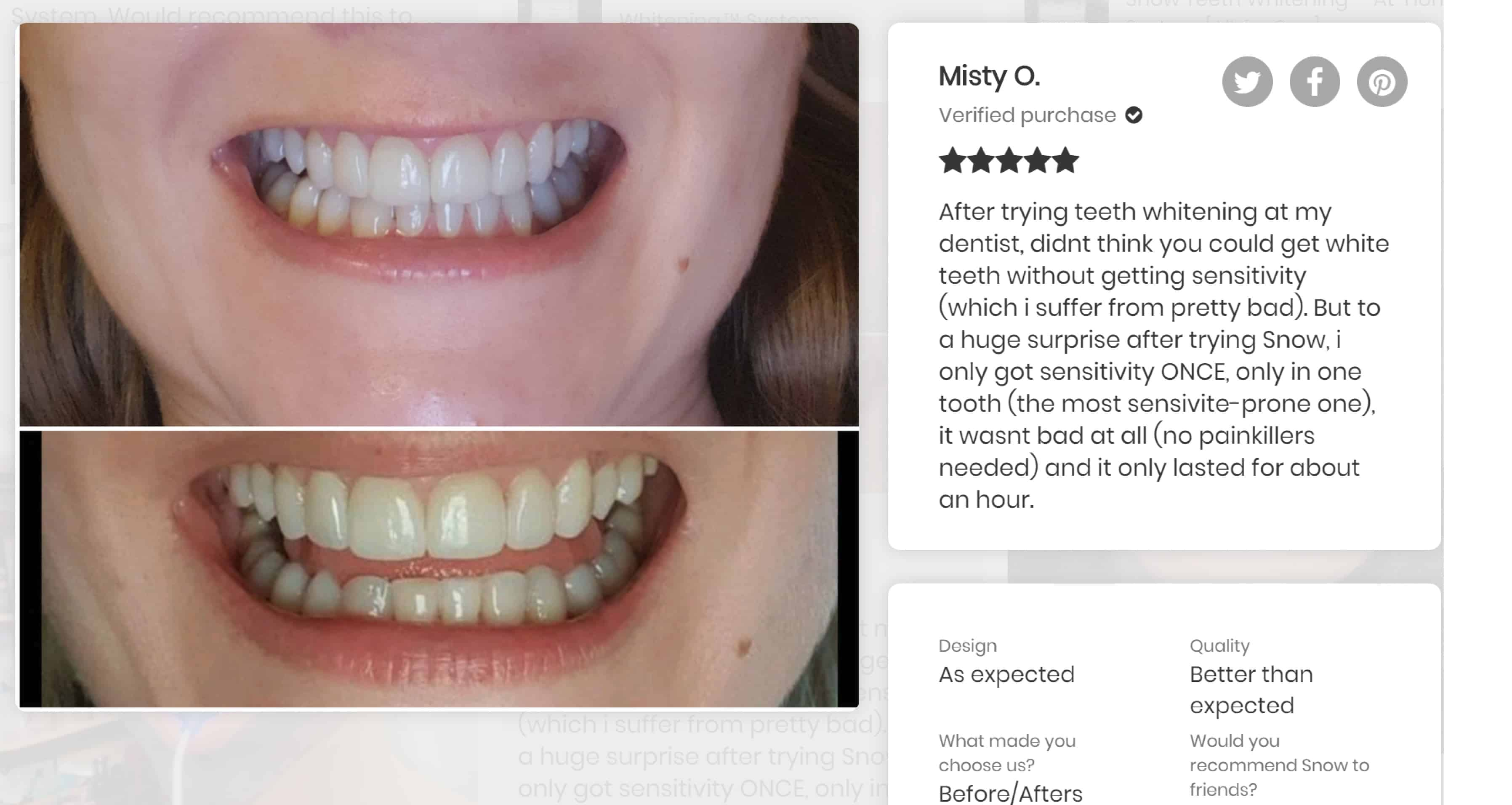 Kit  Snow Teeth Whitening Ratings Reviews