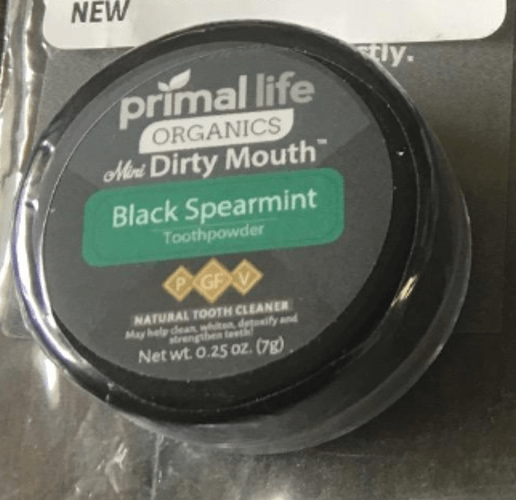 Primal Life Dirty Mouth Tooth Powder